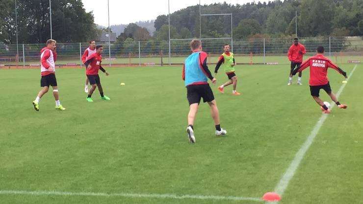 Der FC Aarau trainiert wieder: Nach zwei freien Tagen richten die Spieler den Blick nach vorne.