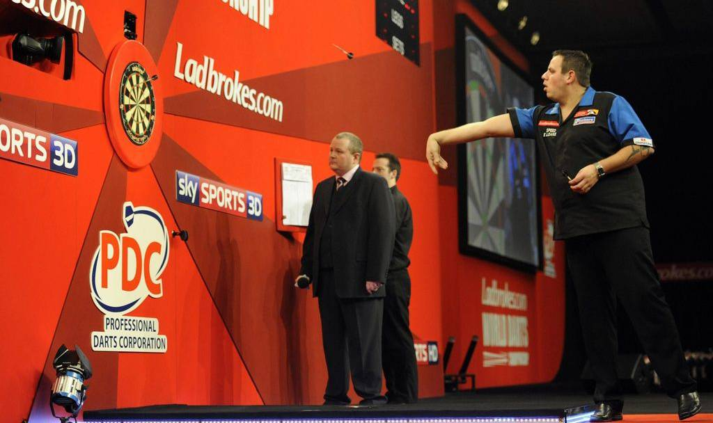 Der perfekte 9-Darter von Dart-Weltmeister Adrian Lewis