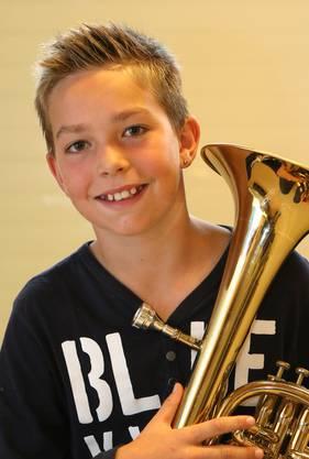 Noah Bruttel: «Zuerst habe ich die Trompete ausprobiert, aber glücklich wurde ich mit dem Es-Horn.»