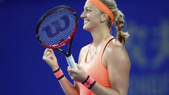 Viel Grund zum Strahlen: Petra Kvitova holte in Wuhan ihren ersten Titel des Jahres