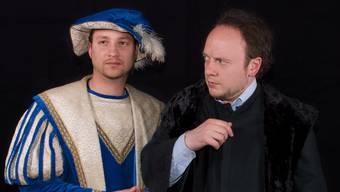 Reto Sperisen als Kaufmann und David Gnaegi als Shylock.
