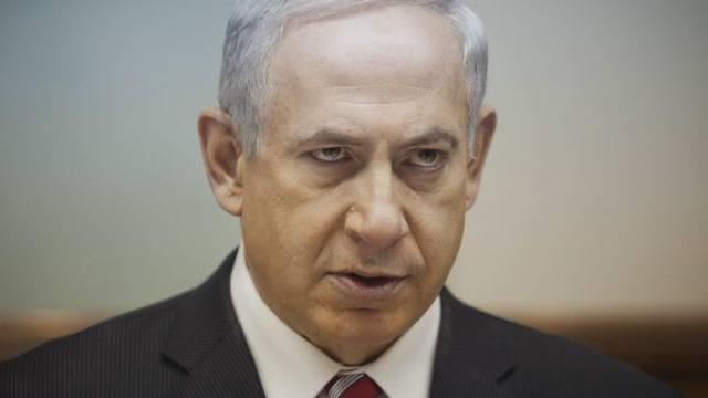 Israels Regierungschef Netanjahu während der Kabinettsitzung