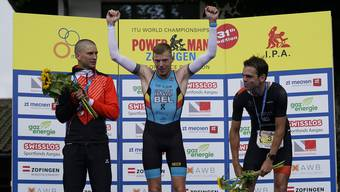 Strahlender Sieger des Powerman Zofingen 2019: der Belgier Diego van Looy.