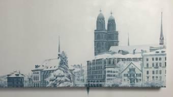 Das aus Kokain gemalte Bild von Zürich.