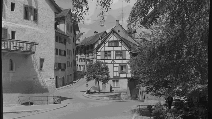 Haldenrank um 1950: Weiter oben befindet sich das Trudelhaus.