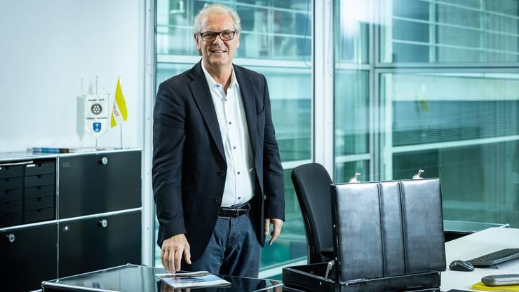 Richard Osterwalder, Geschäftsführer der Weishaupt AG in Geroldswil, tritt nach 30 Jahren ab. Aufgenommen am 10. Mai 2019 in Geroldswil beim Hauptsitz der Firma.