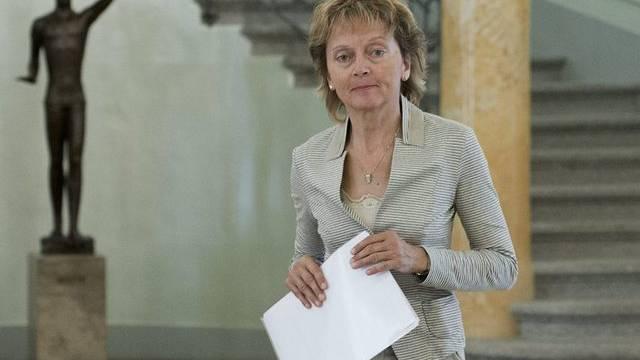 Bundespräsidentin Eveline Widmer-Schlumpf äussert sich zu den Problemen des Finanzplatzes