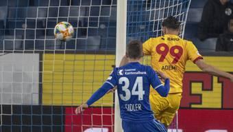 Kemal Ademi erzielt für Xamax in Luzern das Siegestor