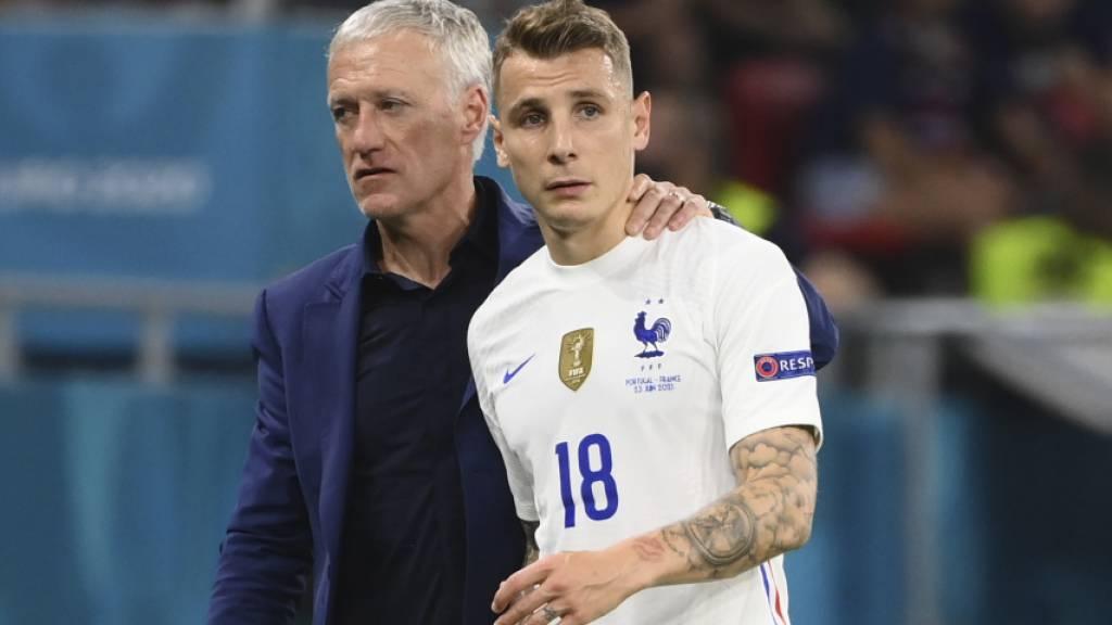 Lucas Digne musste kurz nach seiner Einwechslung das Spiel verletzt schon wieder verlassen