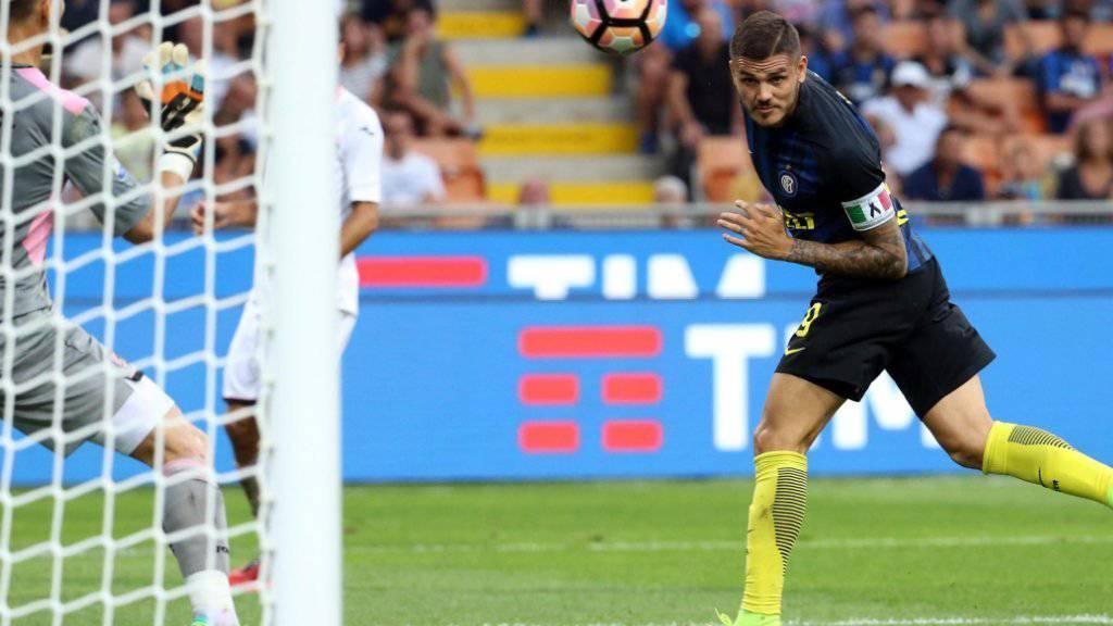 Der Argentinier Mauro Icardi schoss das erste Saisontor für Inter Mailand