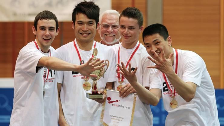 NLA-Playofffinal: Rio-Star Muttenz jubelt über den 10. Titel in Serie.