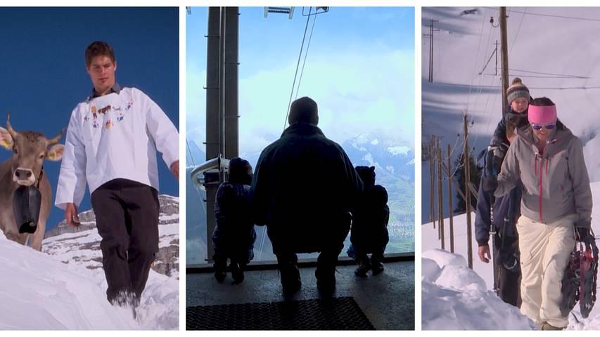 Familie im Schnee