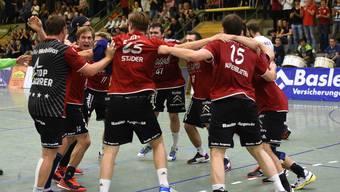 In einem engen Spiel gegen die Kadetten Espoirs setzte sich der HSC Suhr Aarau mit 31:29 durch (Archivbild).