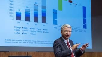 Roche-CEO Severin Schwan anlässlich der Präsentation der Jahreszahlen.