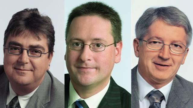 Roger Brunner (bisher), Roger Bachmann (neu) und Jean-Pierre Balbiani (bisher) kandidieren für den Dietiker Stadtrat.