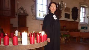 Pfarrerin Bettina Badenhorst: «Unsere Kirche könnte nicht schöner geschmückt sein.»