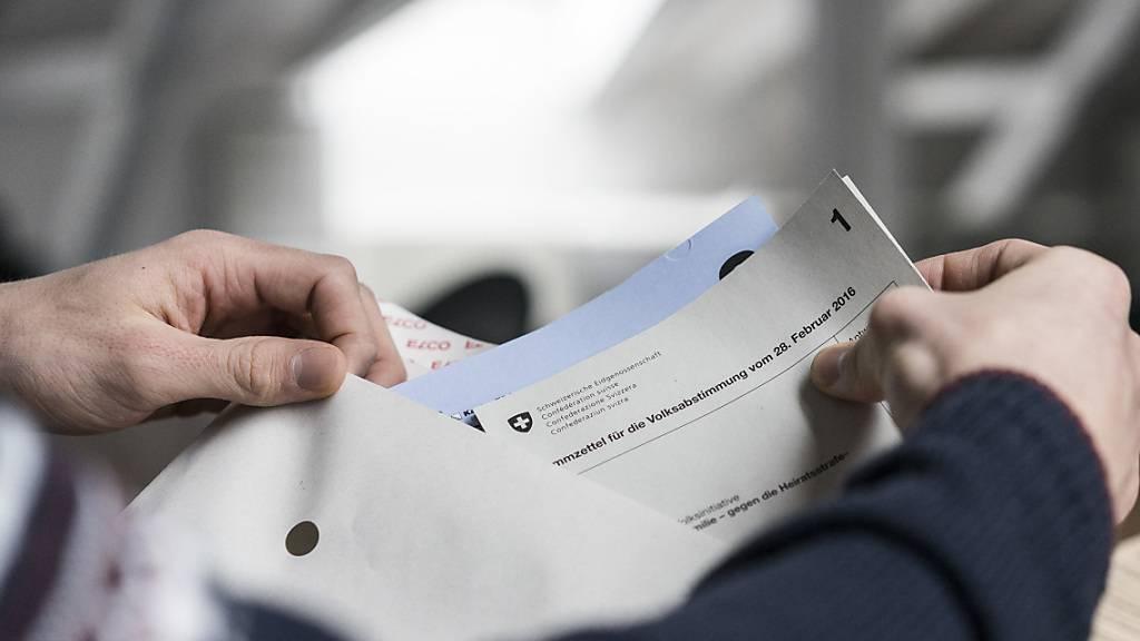 Es wird keine zweite Abstimmung über die Volksinitiative «Für Ehe und Familie - gegen die Heiratsstrafe» geben. (Archivbild)