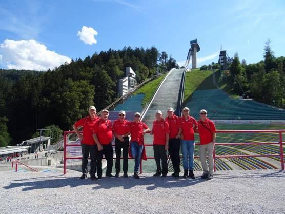 Am Montag wurde in Innsbruck die Sprungschanze besucht, inkl. Mittagessen auf dem Turm