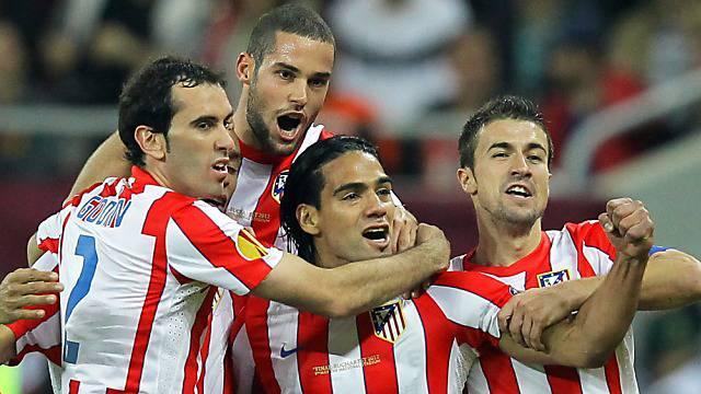 Atleticos Falcao (m.) Doppeltorschütze im Europa-League-Final.