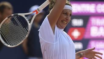 Timea Bacsinszky erlitt in Lugano eine ärgerliche Niederlage