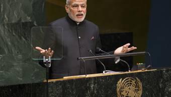 Indiens Premier Narendra Modi spricht vor der UNO-Vollversammlung