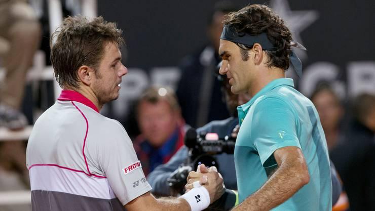 Roger Federer und Stan Wawrinka duellieren sich im Halbfinal zum 22. Mal.