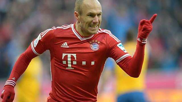 Arjen Robben erzielte beide Tore für Bayern München.