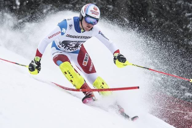Hintermann profitierte auch vom Wetterglück: Nach seiner Fahrt begann es wieder zu Schneien.