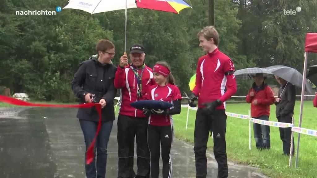 Rollski-Trainingsanlage in Giswil eröffnet