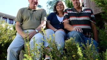 Schulpflegepräsident Hans-Rudolf Schärer, Ruth Hofstetter und Reto Schoch (Vizepräsident der Schule Uitikon) würden eine Fusion begrüssen.