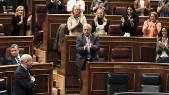 Bildungsminister José Ignacio Wert (vorne) im Parlament