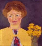 Nicht kategorisierbar: Nolde Emil, Mädchenbildnis (Hannchen). 1915
