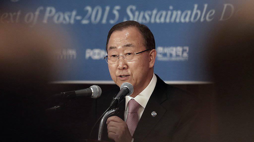 UNO-Generalsekretär Ban dementiert Medienberichte, wonach er kommende Woche nach Nordkorea reisen wolle (Archiv).