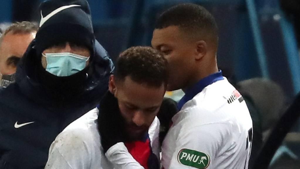 Gab es wieder tröstende Worte von Kylian Mbappé? Neymar verpasst auch das Rückspiel gegen seinen ehemaligen Klub Barcelona