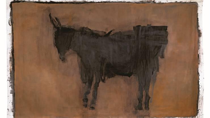 «Der Lastesel» – ein Riesengemälde von Elisabeth Strässle (235× 360 cm) geschaffen im letzten Jahr.