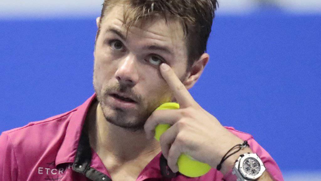 Mit Auge und Köpfen: Stan Wawrinka bewahrt in St. Petersburg auch im Halbfinal in heiklen Situationen die Ruhe