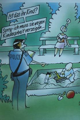 Ein Cartoon zum Thema Kinderarbeit