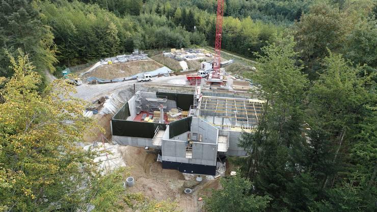 Die beiden Wasserkammern sind fertig. Demnächst soll der Deckel auf das neue Wasserreservoir gesetzt werden.