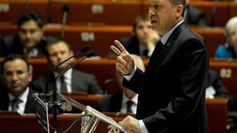 Der türkische Premier spricht vor dem Europarat
