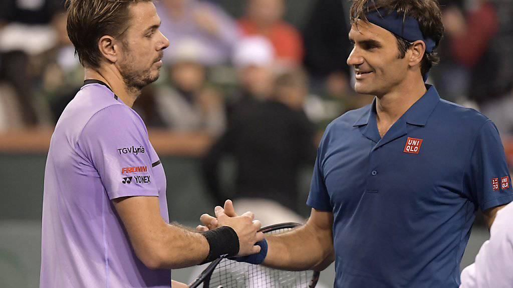 Stan Wawrinka und Roger Federer könnten auch in Miami wieder aufeinandertreffen