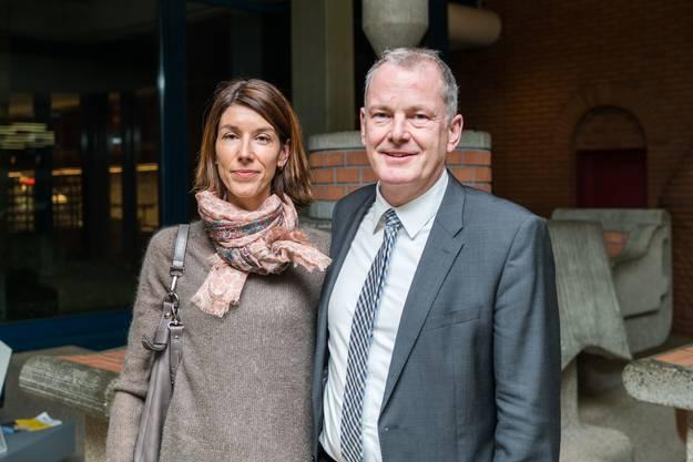Susanne Hochulis Nachfolger als Landammann, Stephan Attiger, mit Gattin Franziska.