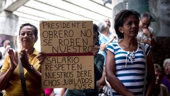 Hyperinflation in Venezuela: Rentnerinnen und Rentner gingen am 3. Oktober auf die Strasse und fordert eine Rentenerhöhung. (Archiv)