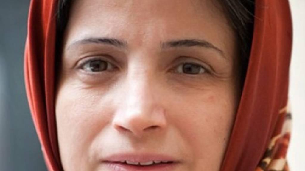 ARCHIV - Die iranische Menschenrechtsaktivistin Nasrin Sotudeh wollte mit ihrem Hungerstreik gegen die Haftbedingungen der politischen Gefangenen während der Corona-Pandemie protestieren. Foto: picture alliance / dpa