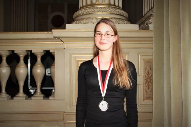 Chantal Balmer aus Aeschi belegt den 8. Platz und wurde mit Silber ausgezeichnet.