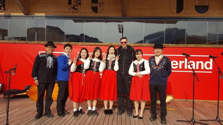 Der Koreanische Jodel-Chor Alpenrose. Ja, das gibt es tatsächlich!