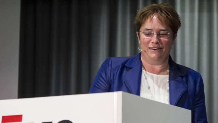 Magdalena Martullo-Blocher präsentiert erfreuliche Zahlen. (Archiv)