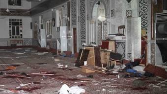 Blick ins Innere der Al-Iman-Moschee nach dem Anschlag