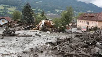 Das österreichische St- Lorenzen wurde von Schlammlawine verschüttet