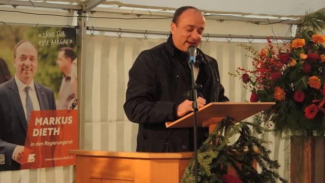Rede von Markus Dieth an der Wahlfeier in Wettingen