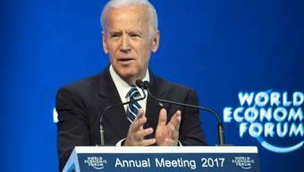 «Wir müssen die liberale Ordnung verteidigen», sagte der scheidende US-Vizepräsident Joe Biden am WEF.